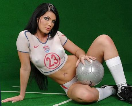 World Cup Girl White Body Paint 7.2.14 Blog