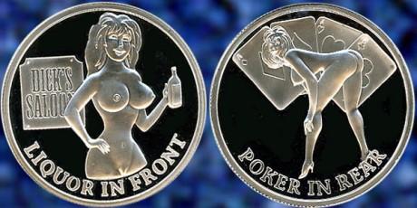 Dicks Saloon Liquor in Front Poker in Rear Coin 9.9.14 Blog