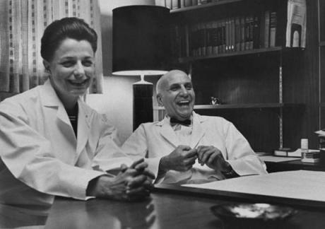 Virginia Johnson and Dr. Masters/Source: Time Magazine
